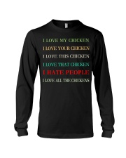 I LOVE MY CHICKEN Long Sleeve Tee tile