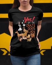 I AM THE CRAZY DOG LADY Ladies T-Shirt apparel-ladies-t-shirt-lifestyle-04