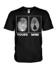 Your fingerprint - My fingerprint V-Neck T-Shirt thumbnail