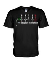 HEART BEAT GEAR 6 V-Neck T-Shirt thumbnail