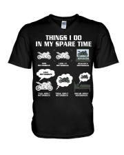 MY SPARE TIME V-Neck T-Shirt thumbnail