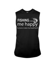 FISHING MAKES ME HAPPY Sleeveless Tee thumbnail