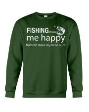 FISHING MAKES ME HAPPY Crewneck Sweatshirt thumbnail