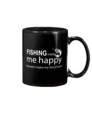 FISHING MAKES ME HAPPY Mug thumbnail