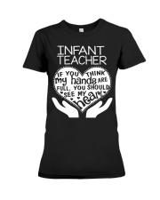 TEE SHIRT INFANT TEACHER Premium Fit Ladies Tee thumbnail