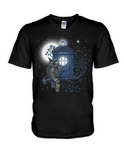 Owl Doctor Who V-Neck T-Shirt tile