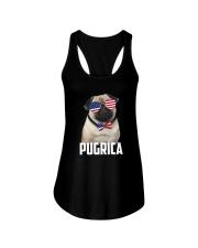 Pug Proud 0506 Ladies Flowy Tank thumbnail