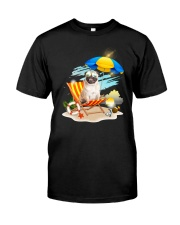 Pug Beach 2405 Classic T-Shirt thumbnail