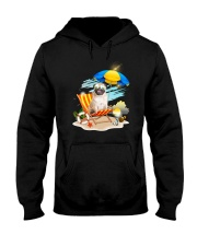 Pug Beach 2405 Hooded Sweatshirt thumbnail