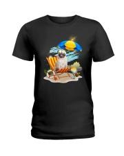 Pug Beach 2405 Ladies T-Shirt thumbnail