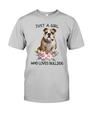 Bulldog Loves Girl 0204 Classic T-Shirt front