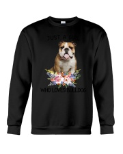 Bulldog Loves Girl 0204 Crewneck Sweatshirt thumbnail