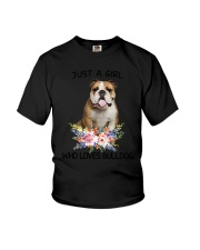 Bulldog Loves Girl 0204 Youth T-Shirt thumbnail
