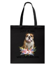Bulldog Loves Girl 0204 Tote Bag thumbnail