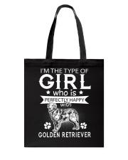 Golden Retriever Perfect Girl Tote Bag thumbnail