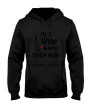 Wine Kinda Mom 2304 Hooded Sweatshirt thumbnail