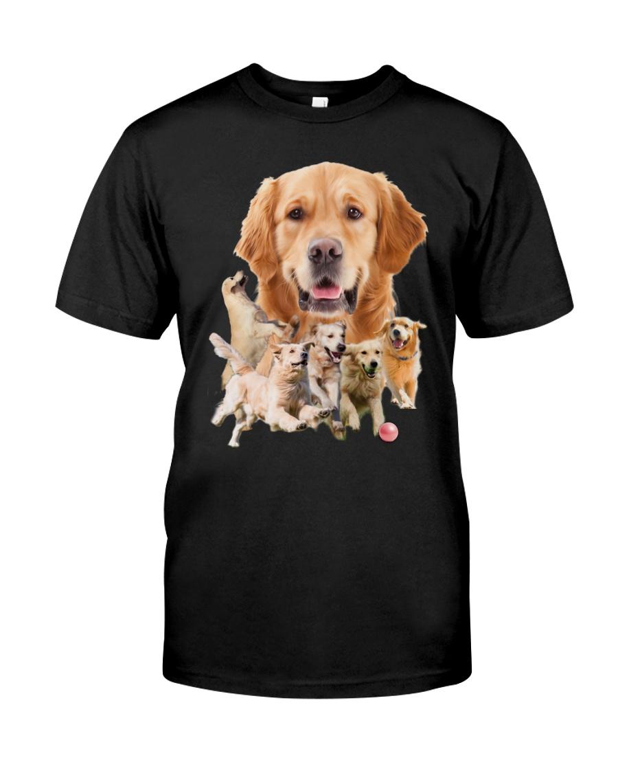 GAEA - Golden Retriever Running 1303 Classic T-Shirt