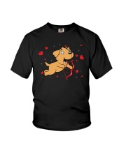 Golden Retriever Cupid Youth T-Shirt thumbnail