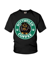 Rottweiler Coffee Youth T-Shirt thumbnail