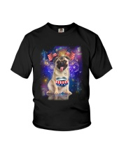 Pug Independence 0606 Youth T-Shirt thumbnail