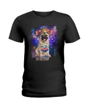 Pug Independence 0606 Ladies T-Shirt thumbnail