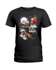 Shih Tzu Reindeers - 0711 - 53 Ladies T-Shirt thumbnail