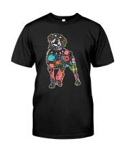 Rottweiler Flower Classic T-Shirt front