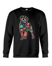 Rottweiler Flower Crewneck Sweatshirt thumbnail