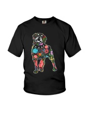 Rottweiler Flower Youth T-Shirt thumbnail