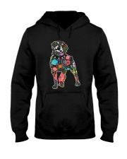Rottweiler Flower Hooded Sweatshirt thumbnail