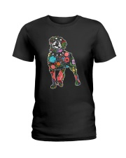 Rottweiler Flower Ladies T-Shirt thumbnail