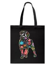 Rottweiler Flower Tote Bag thumbnail