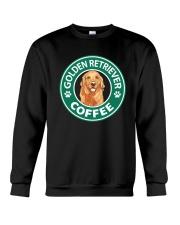 Golden Retriever Coffee Crewneck Sweatshirt thumbnail