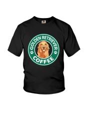 Golden Retriever Coffee Youth T-Shirt thumbnail