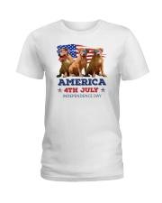 Pitbull 4th7 0706 Ladies T-Shirt thumbnail