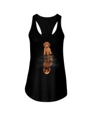 Poodle In Dream Ladies Flowy Tank thumbnail