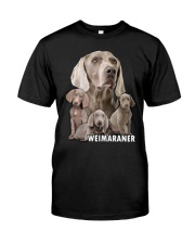 Weimaraner Awesome Classic T-Shirt front