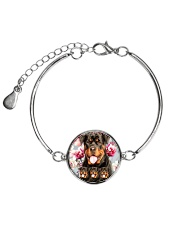 Rottweiler Flower 2304 Metallic Circle Bracelet thumbnail