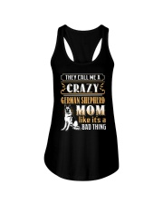 German Shepherd Crazy Mom Ladies Flowy Tank thumbnail