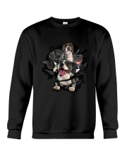 Staffordshire Bull Terrier Scratch Crewneck Sweatshirt tile