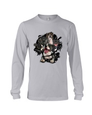 Staffordshire Bull Terrier Scratch Long Sleeve Tee thumbnail
