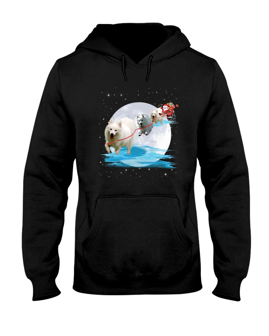 GAEA - Japanese Spitz Santa - 1111 - 05 Hooded Sweatshirt