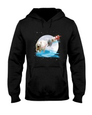GAEA - Japanese Spitz Santa - 1111 - 05 Hooded Sweatshirt thumbnail