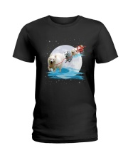 GAEA - Japanese Spitz Santa - 1111 - 05 Ladies T-Shirt thumbnail