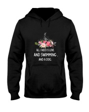 Swimming And Dog 2304 Hooded Sweatshirt thumbnail