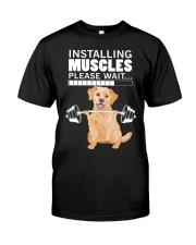 Golden Retriever Muscles Classic T-Shirt front