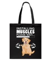 Golden Retriever Muscles Tote Bag thumbnail