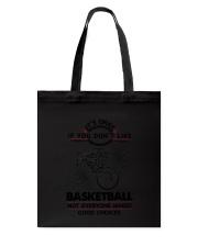 Basketball Good Choices 2504 Tote Bag thumbnail