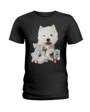 GAEA - West Highland White Terrier Running 1603 Ladies T-Shirt thumbnail
