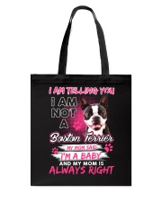 Boston Terrier Baby  Tote Bag thumbnail